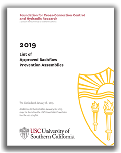 2019 USC List of Approved Assemblies