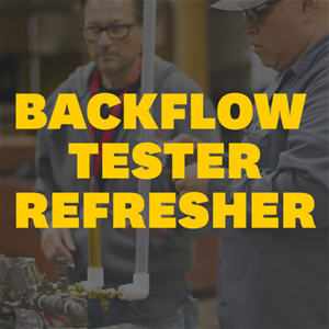 Backflow Tester Refresher Workshop | 4 May 2020