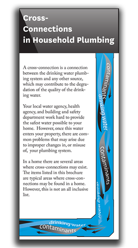 Cross-Connections in Household Plumbing set of 1000 Info Brochures*
